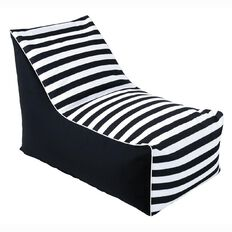 Living & Co Bean Bag Lounger Cover Black & White
