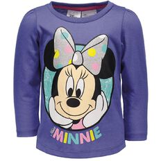 Minnie Mouse Toddler Girl Long Sleeve Miss Minnie Tee