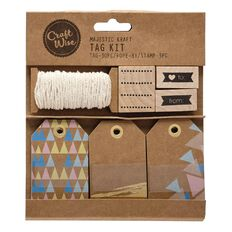Craftwise Majestic Kraft Gift Tag Kit