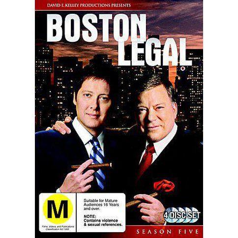 Boston Legal Season 5 DVD 4Disc