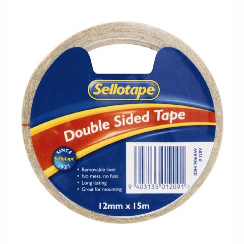 Sellotape Double Sided Tape 12mm x 15m Single