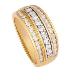1 Carat of Diamonds 9ct Gold Multi Channel Set