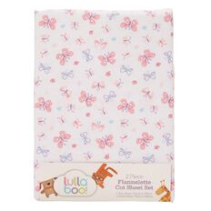 Lullaboo Flannelette Sheet Girls' Set