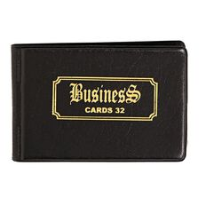 Business Card Holder Mini Deluxe PP Pockets For 32 Cards