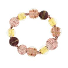 Purple And Gold Murano Glass Bracelet