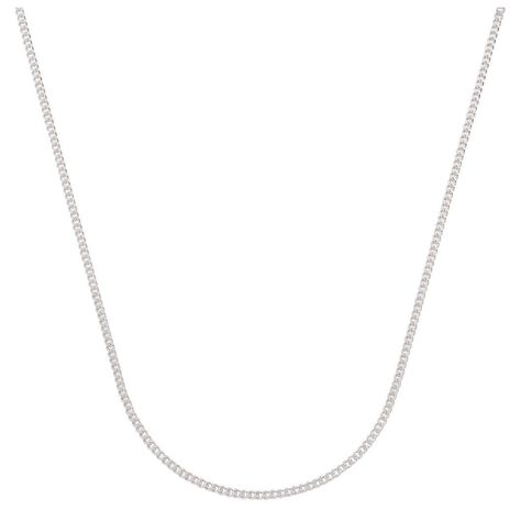 Sterling Silver Diamond Cut 60 Gauge Curb Chain 55cm