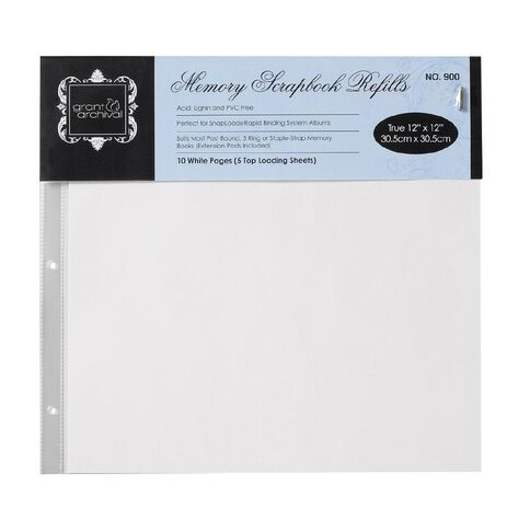 Grants Scrapbooking Album Refill Pages 12 x 12 10 Pack