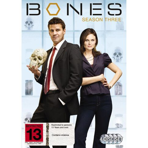 Bones Season 3 DVD 4Disc