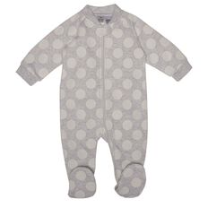 Hippo + Friends Baby Girl Print Fleece All-in-One