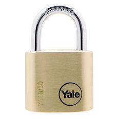 Yale 110 Series Padlock Brass 30mm