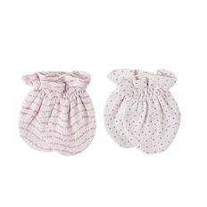 Hippo + Friends Baby Girl Mittens 2 Pack