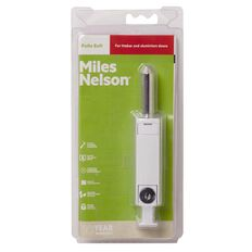 Miles Nelson Security Patio Bolt Single Pack White