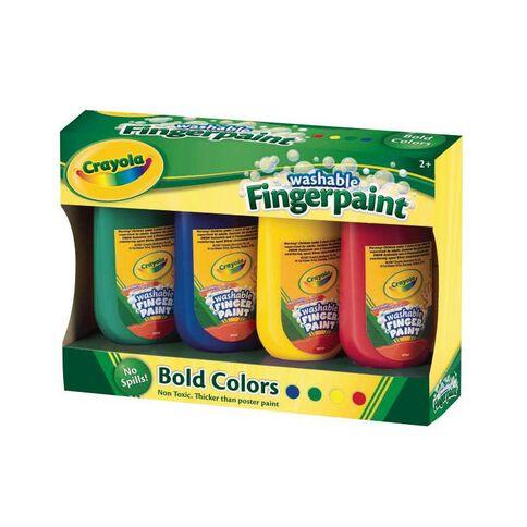 Crayola Washable Finger Paints 4 Pack