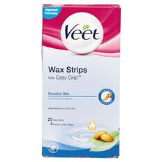 Veet Wax Strips Sensitive Legs 20 Strips