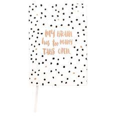 Paper Scissors Rock Notebook Hardcover Black White A5
