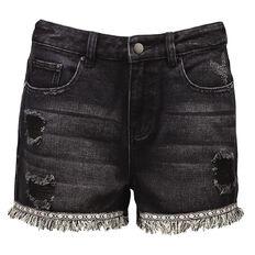 Garage Trim Raw Hem Denim Shorts