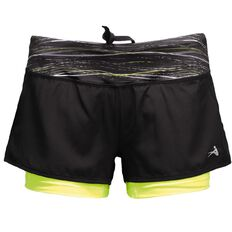 Active Intent Women's Printed Band Bike Shorts