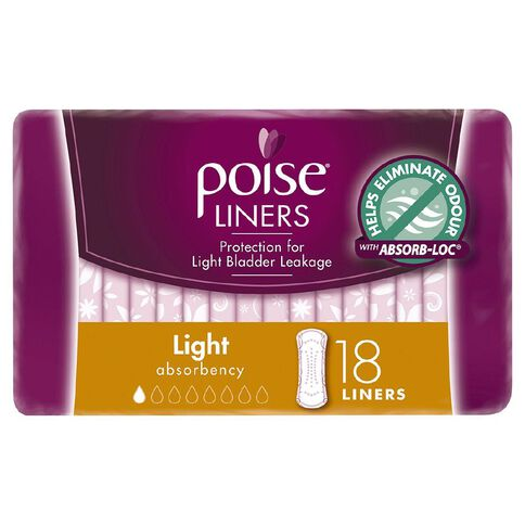 Poise Light Liners 18s