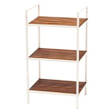 Living & Co Acacia Storage Shelf 3 Tier