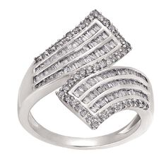 1 Carat of Diamonds 9ct Gold Diamond Fancy Dress Swirl Ring