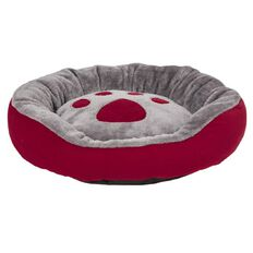 Fur'life Cosy Paw Bed Red 53cm