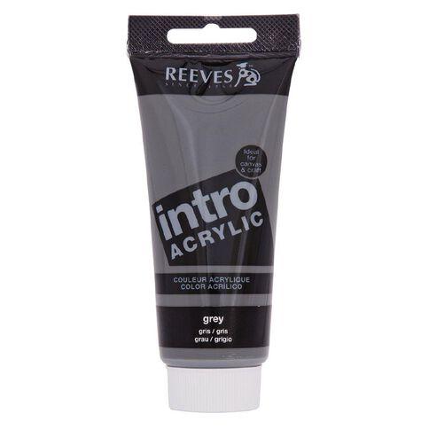 Reeves Intro Acrylic Grey 100ml