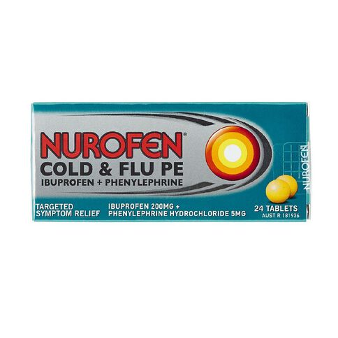 Nurofen Cold & Flu PE tablets 24s