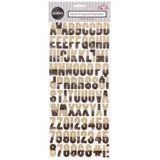 Rosie's Studio Flourish Glitter Chipboard Alphabet