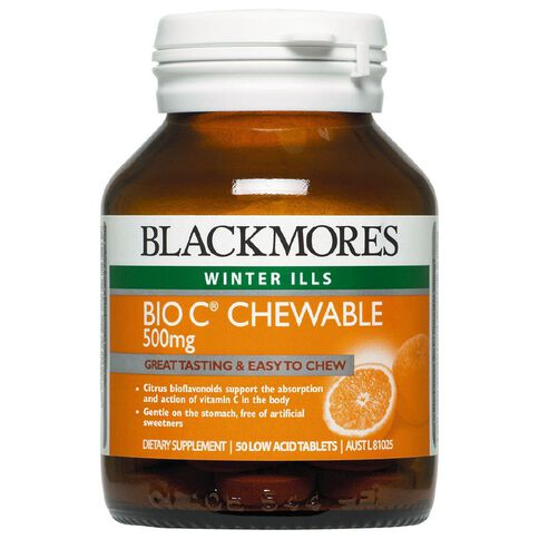 Blackmores Bio C Chewable 500mg 50s