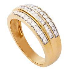 1/2 Carat of Diamonds 9ct Gold Diamond Channel Ring