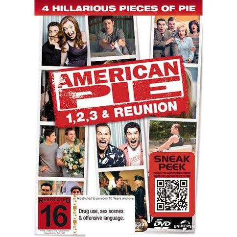 American Pie 1 2 & 3 + Reunion DVD 4Disc