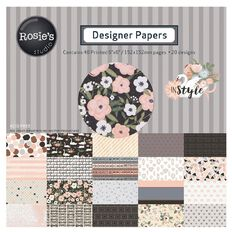 Rosie's Studio In Style Paper Pad 6in x 6in 40 Sheet