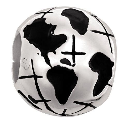 Ane Si Dora Sterling Silver Globe Charm