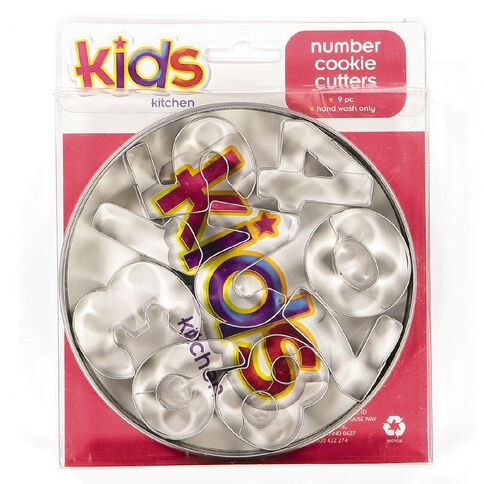 Kids Kitchen Number Cookie Cutters