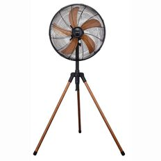 Onix Tripod Fan Wood Look