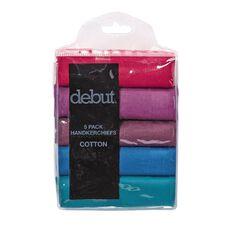 Debut Autumn Handkerchiefs 5 Pack