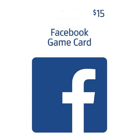 Facebook Game Card $15