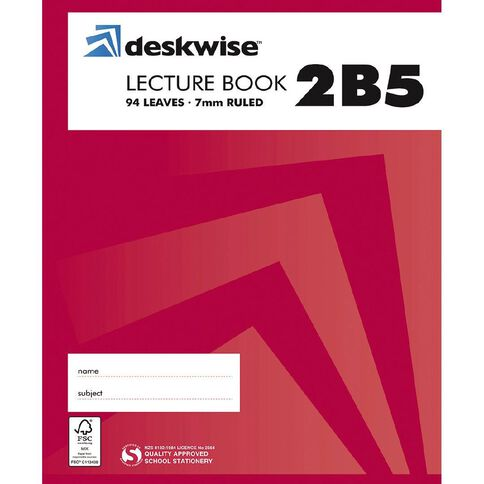 Deskwise Lecture Book 2B5 7mm Ruled Hardcover 94 Leaf