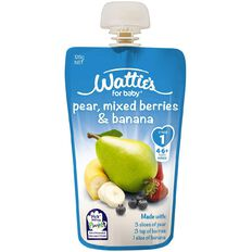 Wattie's Mixed Berries & Banana Pouch 120g