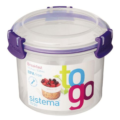Sistema Klip It To Go Breakfast Assorted Colours