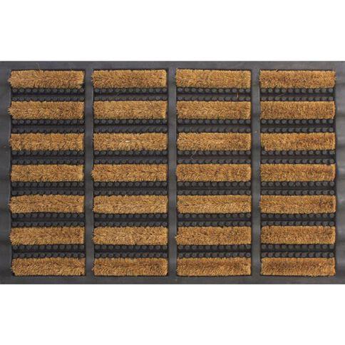 Mat Heavy Duty Coir Brush & Rubber