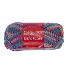 Knitwise Hero Yarn Hero Tones 8-Ply Festival 50g