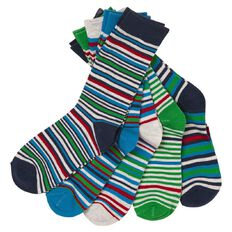 H&H Boys' Crew Socks 5 Pack
