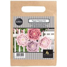 Rosie's Studio Paper Flowers Blush 25cm 4 Piece