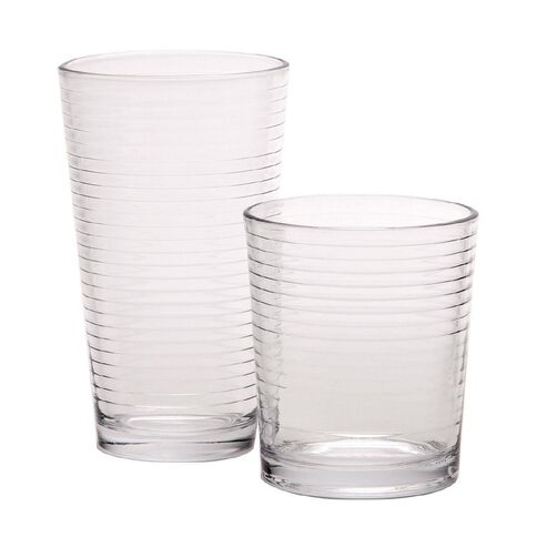 Necessities Brand Glass Tumbler 460ml/266ml 12 Pieces