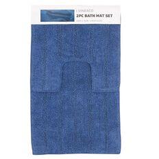 Living & Co Bath Mat Set Rivera 45cm x 75cm 2 Piece