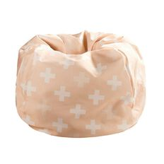 Living & Co Bean Bag Cover Pink Cross 200L