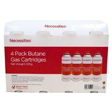 Necessities Brand Butane 220g 4 Pack