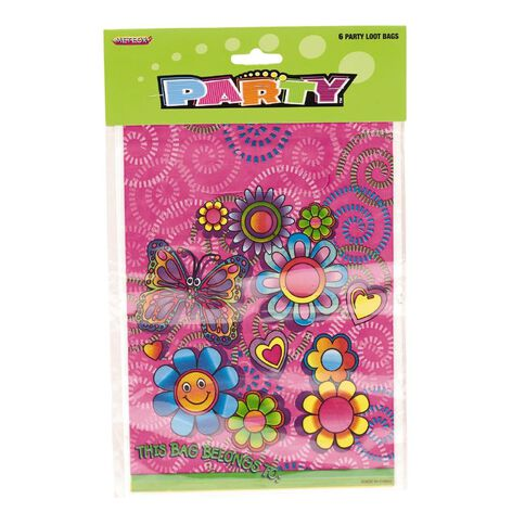 Meteor Party Loot Bags Assorted Designs 6 Pack