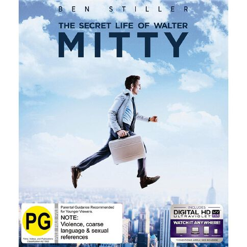 The Secret Life Of Walter Mitty Blu-ray 1Disc